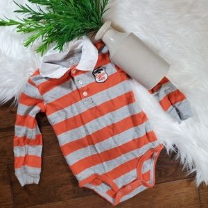 🌿5/$25 Carter's Orange Stripe Bodysuit | sz 24m